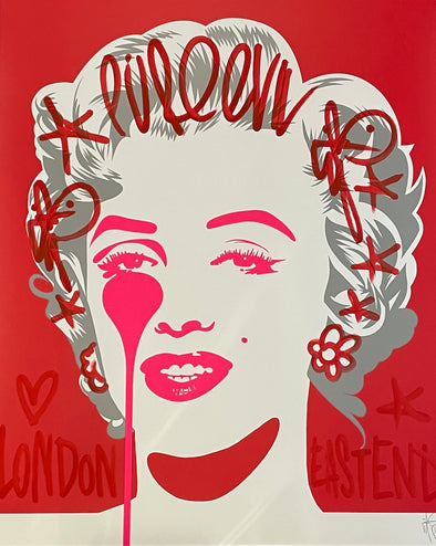 Pure Evil - 'Classic Marilyn - London East End' Unique Hand Finished Print