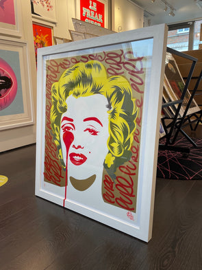 Pure Evil - 'Classic Marilyn - Red Tags' Unique Hand Finished Print