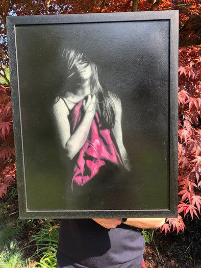 Snik - 'Memories Fade Away' (Pink) Original Canvas