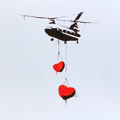 Martin Whatson - 'Mini Chinook Hearts' (Red)
