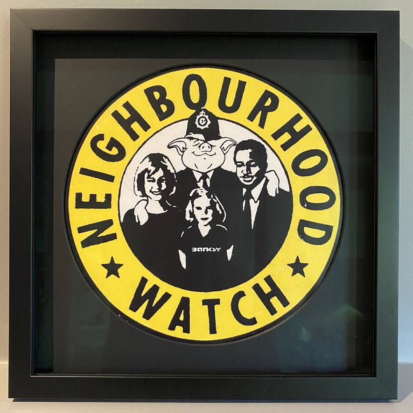 Banksy - 'Neighbourhood Watch' (Extremely Rare Large Version)