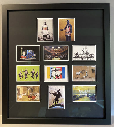 Banksy - 'Complete Set of Original Banksy Vs Bristol Museum Postcards'