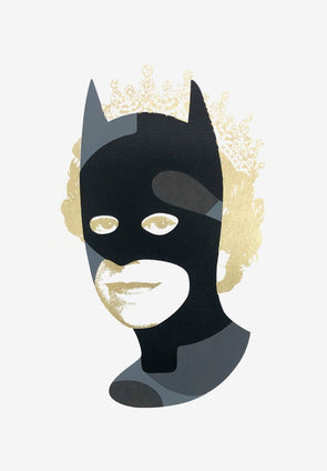Heath Kane - 'Rich Enough To Be Batman - Black and Gold Dollar Sign'