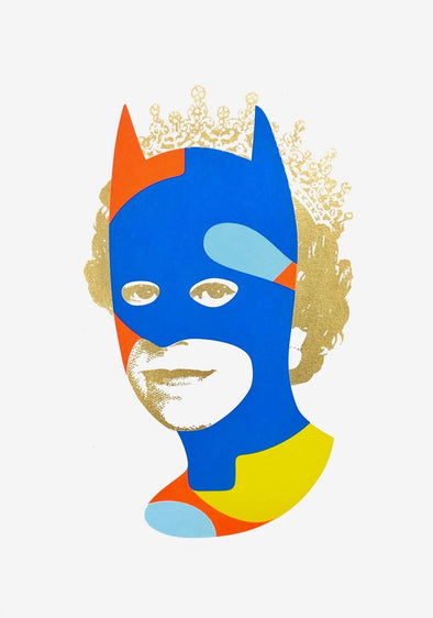 Heath Kane - 'Rich Enough To Be Batman - Blue and Gold Dollar Sign'