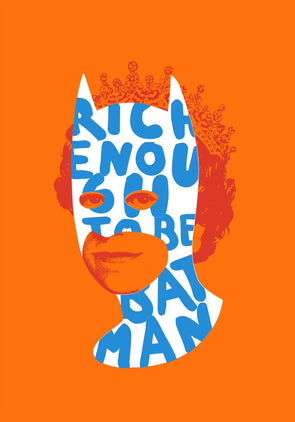 Heath Kane - 'Rich Enough To Be Batman - Neon Blue and Blue'