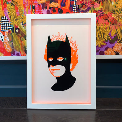 Heath Kane - 'Rich Enough To Be Batman - Neon Orange and Pink Flock'