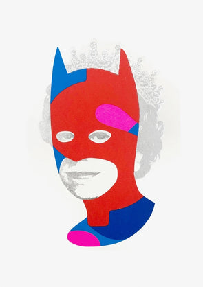 Heath Kane - 'Rich Enough To Be Batman - Red and Silver Dollar Sign'