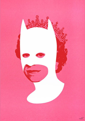 Heath Kane - 'Rich Enough To Be Batman - White and Pink'