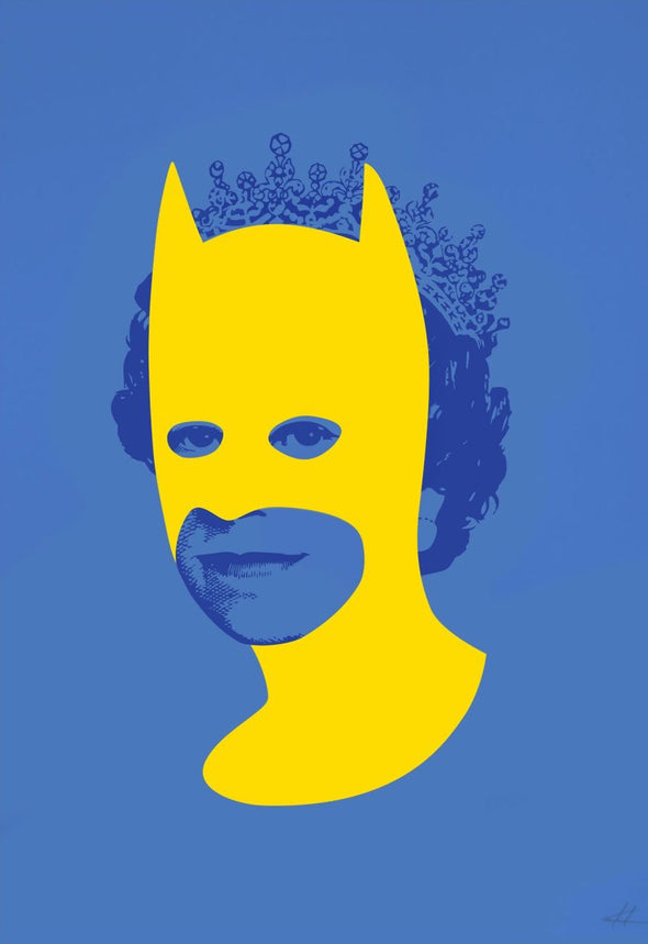 Heath Kane - 'Rich Enough To Be Batman - Yellow and Blue'