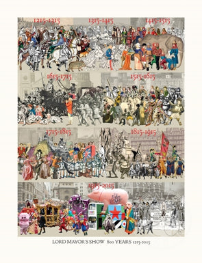 2576: Sir Peter Blake - 'The Lord Mayor's Show 800 Years 1215-2015' (Unframed)