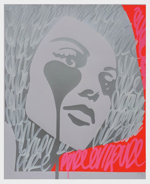 2739: Pure Evil - 'Carlo Ponti's Nightmare - Pink on Red Tags' (Framed) SOLD