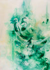 2803: Katy Jade Dobson - 'Emerald' (Framed) ORIGINAL PAINTING
