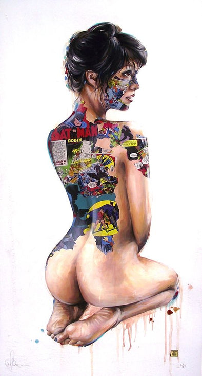 3026: Sandra Chevrier - '3 Naked Ladies Triptych' (Unframed set of 3) SOLD