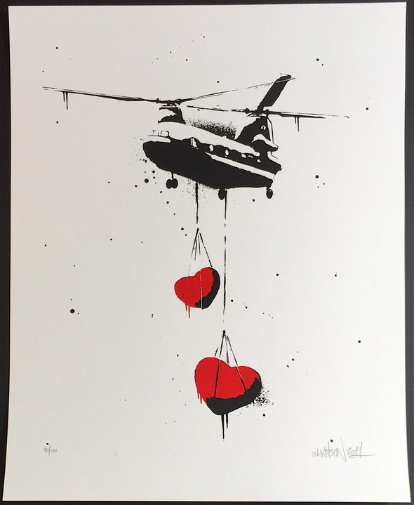 3091: Martin Whatson - 'Chinook Hearts' Rare Sold Print from 2011 SOLD
