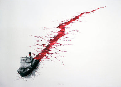 3118: Pejac - 'Wound' (Unframed) SOLD