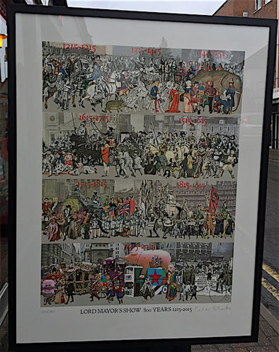 2578: Sir Peter Blake - 'The Lord Mayor's Show 800 Years 1215-2015' (Framed)