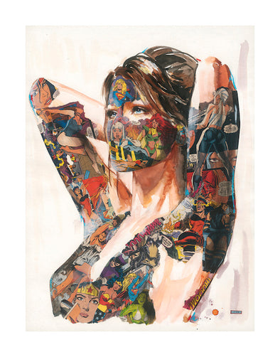 3025: Sandra Chevrier - 'A Woman of A Thousand Faces' (Unframed) SOLD