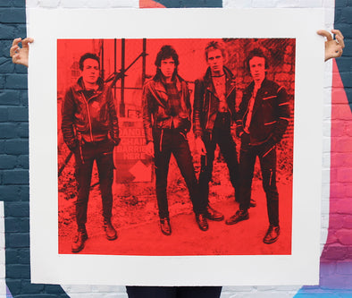 3257: Russell Marshall - 'The Clash' Unique screen print