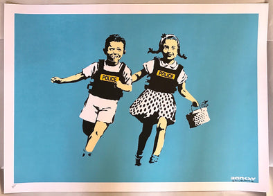 3559: Banksy - Police Kids (Jack and Jill) (Signed) SOLD