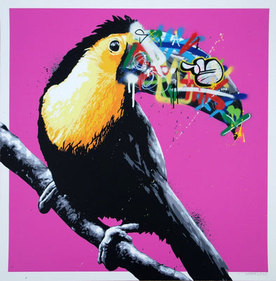 3651: Martin Whatson - 'Toucan' (Special Pink Edition) (Unframed) SOLD