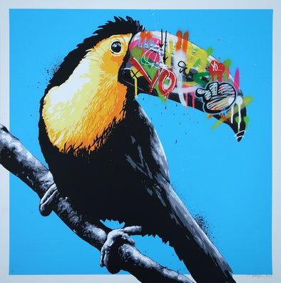 3650: Martin Whatson - 'Toucan' (Special Blue Edition) (Unframed) SOLD