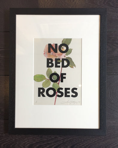 3648: Lene Bladbjerg - 'No Bed Of Roses'  (framed)
