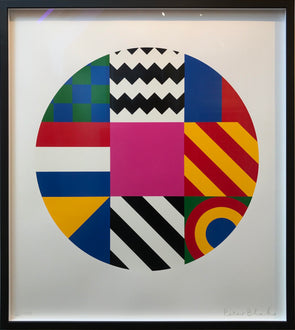 "3770: Peter Blake - 'Dazzle Disc"" (Framed) SOLD"