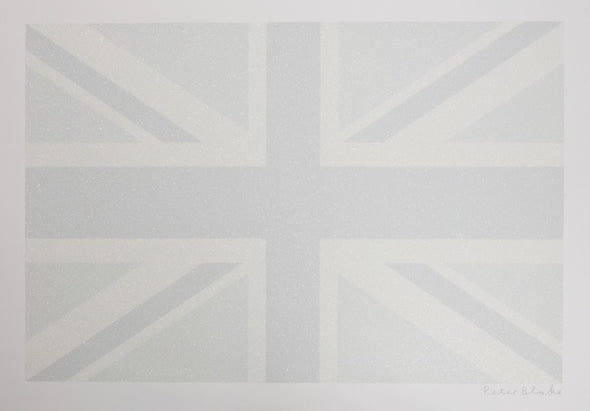 3774: Peter Blake - 'Greyscale Union Flag' (Framed) SOLD