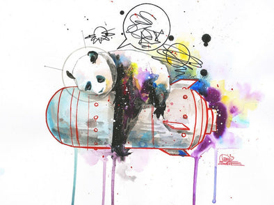 Lora Zombie - 'Space Panda 1' HAND SIGNED VERSION