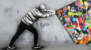 3795: Martin Whatson - 'Behind the curtain' SOLD