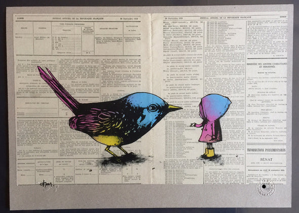 3813: Dran - 'Learning to Fly' (Colour - special edition of 25) Very Rare! SOLD