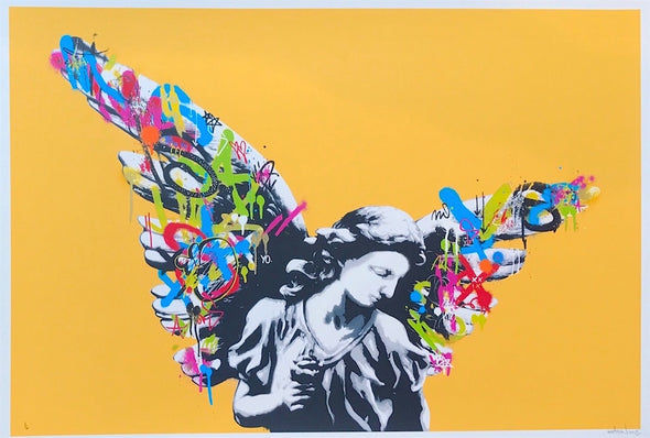 3818: Martin Whatson - 'Angel' (Mustard) Very Rare print from 2013 (Unframed) SOLD