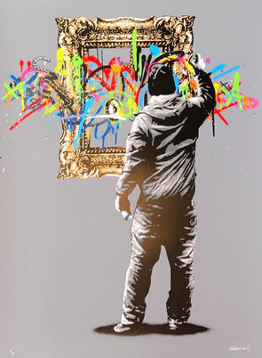 3819: Martin Whatson - 'Framed - Grey' Rare edition of 10 from 2013 (Unframed) SOLD