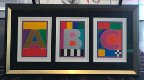 Peter Blake - Set of 3 'Dazzle Letters' (Dazzle A, B & C)  (Framed)
