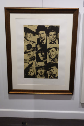 1105: Russell Marshall - 'Cowboys' (Framed) SOLD