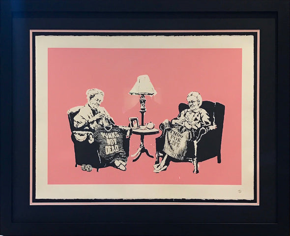 Banksy - 'Grannies' (Unsigned) - Conservation framed with museum glass