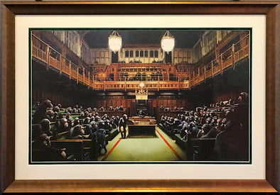 4012: Banksy - 'Monkey Parliament' (Framed) SOLD