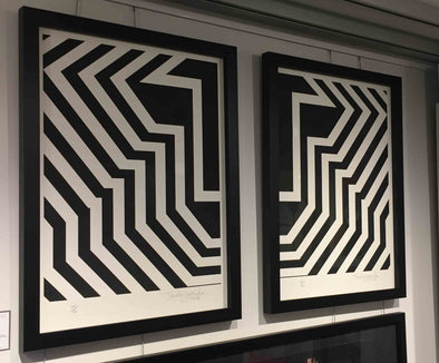 Tavar Zawacki - 'Pulse Black & White' (Framed Pair of Prints)