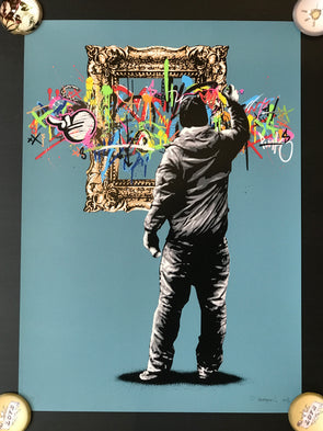 Martin Whatson - 'Framed - Blue' Rare edition of 10 from 2013 (Unframed) SOLD