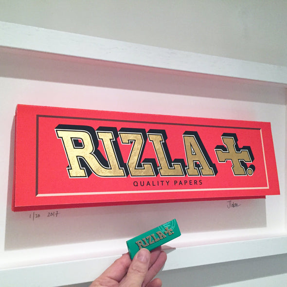 James Talon- 'Rizla - Orange' (Framed)