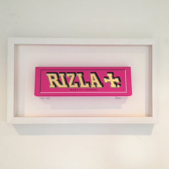 James Talon- 'Rizla - Pink' (Framed) SOLD