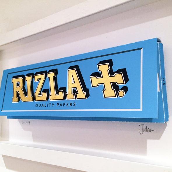 James Talon- 'Rizla - Blue' (Framed)