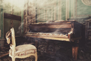 1389: Gina Soden - 'Castle Piano' (Framed) SOLD