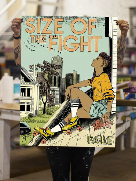 Faile - 'Size of the Fight' (Framed) SOLD