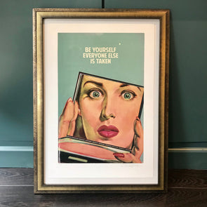 The Connor Brothers - 'Be Yourself Everyone Else Is Taken' (Framed) SOLD