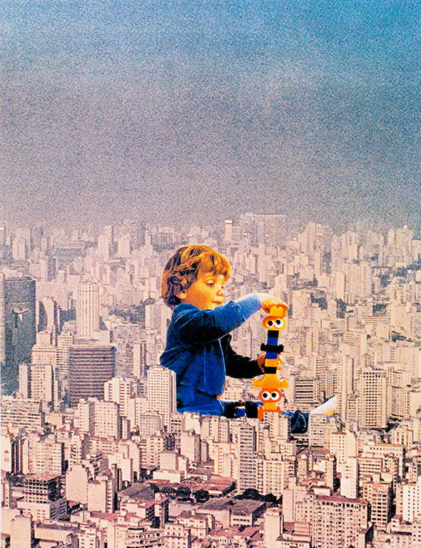 Joe Webb - 'Building Blocks' (Framed)