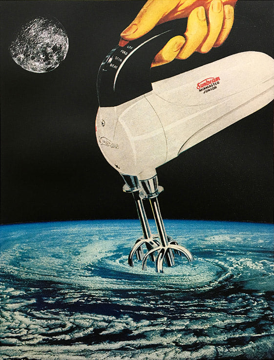 Joe Webb  - 'Stirring Up A Storm' Large  (Framed)