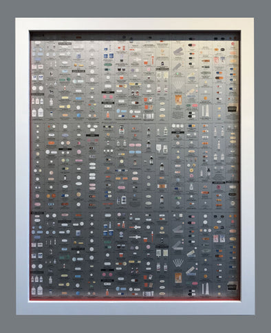 Damien Hirst - Pharmacy Limited Edition Wallpaper (Framed) SOLD