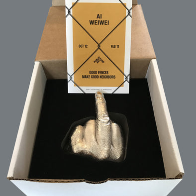 Ai Weiwei - The Artist's Hand (Cast electroplated resin sculpture) RESERVED