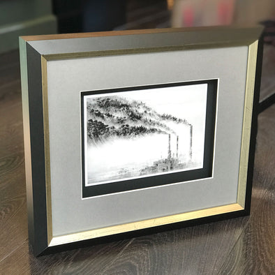 Pejac - 'A Forest' Mini Print on Card (Framed) SOLD
